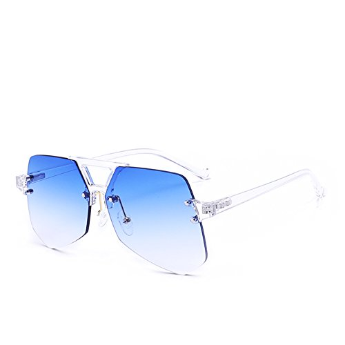 de irr¨¦guli¨¨re Fygrend Sunglass Lunettes D¨¦grad¨¦ Design Lunettes Oculos Lady Rose Brand Bleu femme Gris soleil Femme Vert gradient 8AqOg5qw