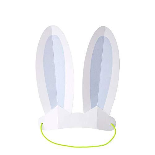 Meri Meri Pastel Bunny Ears Headband 8 In A Pack