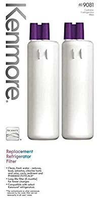 Kenmore Elite 9081 Genuine Kenmore Refrigerator Water Filter for KENMORE ELITE,KENMORE Genuine Original Equipment Manufacturer (OEM) part - 2 packs