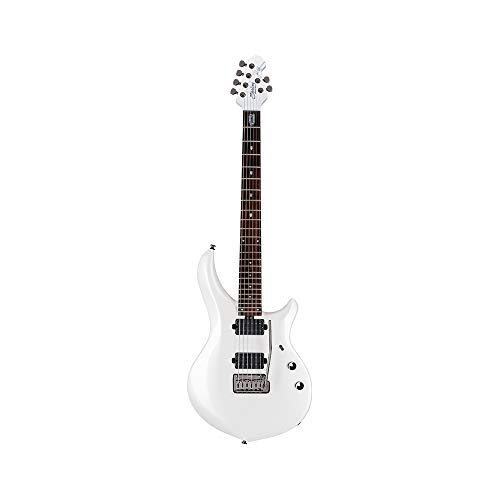 Sterling By MusicMan 6 String Solid-Body Electric Guitar, Right, Pearl White (MAJ100X-PWH)