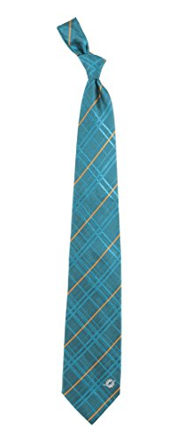 Eagles Wings NFL Miami Dolphins Men's Woven Silk Oxford Necktie, One Size, Multicolor ()