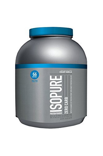 Isopure Zero Carb Protein Powder, 100 Whey Protein Isolate, Flavor Creamy Vanilla, 4.5 Pounds Packaging May Vary