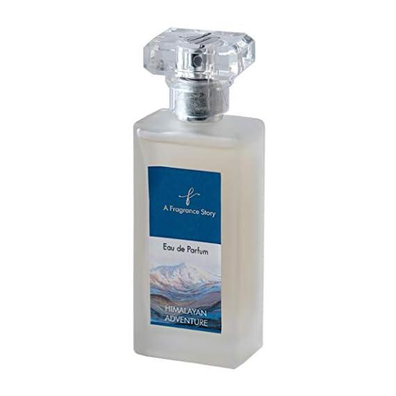 A Fragrance Story- Himalayan Adventure fresh and woody oriental fragrances for Men - 50 ml. Branded Long lasting Eau De Parfum blend of Amber accord, Mandarin, Nutmeg, Oak and Moss.