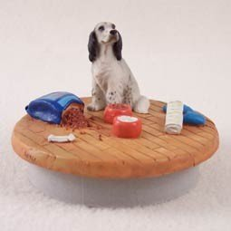 Conversation Concepts Miniature English Setter Belton Blue Candle Topper Tiny One ''A Day at Home'' by Conversation Concepts
