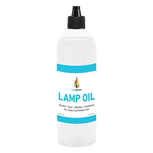 Liquid Paraffin Lamp Oil - 1 Liter - Smokeless, Odorless, Ultra Clean Burning Fuel for Indoor and Outdoor Use (Single)