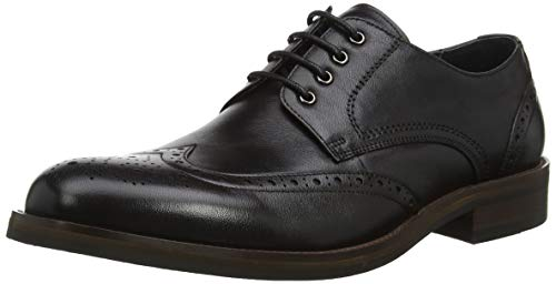 Leather Stringate Scarpe Bertie Black Leather Black Uomo Nero Packman Brouge H64xwUz