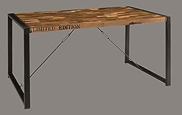 Tavolo In Ferro E Legno : Stendhal art.gr01 tavolo industrial in ferro e legno: amazon.it