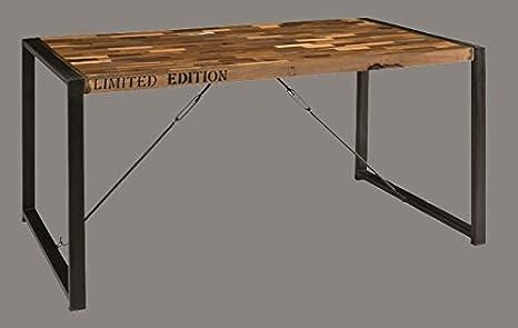Stendhal Art.GR01 Tavolo Industrial in ferro e legno: Amazon.it ...