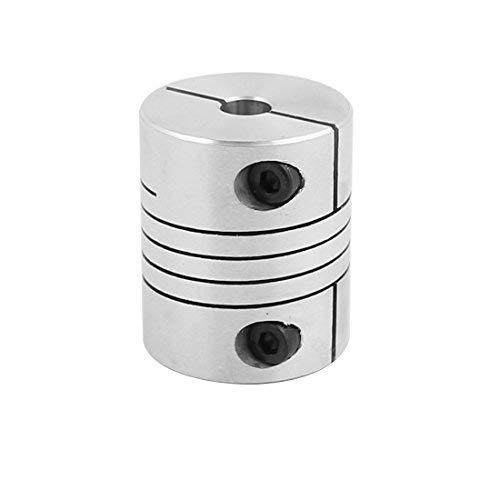 6mm to 6mm Shaft Coupling 30mm Length 25mm Diameter Stepper Motor Coupler Aluminum Alloy Connector for 3D Printer CNC Encoder DIY Machine