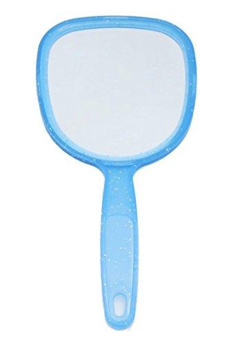 Handspiegel Spiegel Kosmetikspiegel Blau oder Weiß , Farbe:Blau