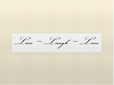 LIVE LAUGH LOVE Vinyl wall quotes stickers sayings home art decor decal