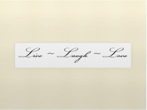 ** Live Love Laugh Vinyl Decal Home Wall Decor **