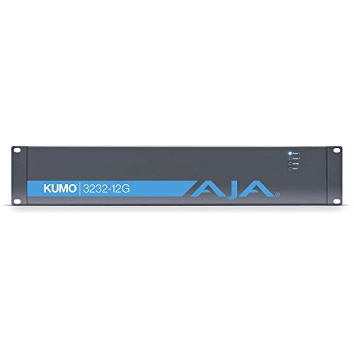 Aja KUMO 32x32 Compact 12G-SDI Router, with 1 Power Supply