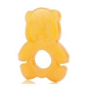 Panda-Beißring aus Hevea-Gummi, 100% natürlich, BPA- und Phthalat-frei, vollkommen sicher für Kleinkinder