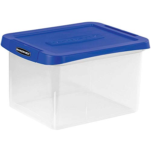 Reinforced Box - Fellowes Heavy Duty, Water Proof, Durable, Reinforced Corner, Comfortable Handle, Built-in Rail, Portable File Box (FEL0086201)