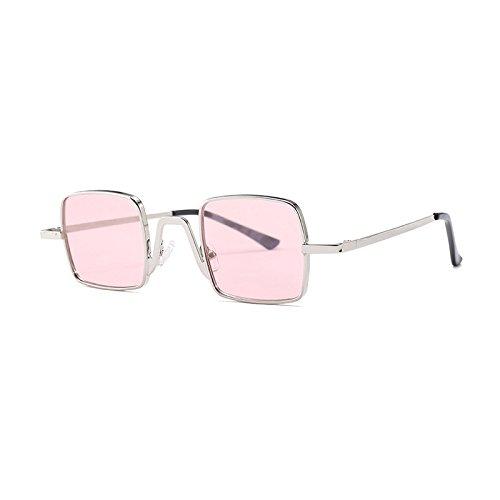 Burenqi  Lunettes de soleil femme Hommes nouvelle arrivée Petite taille  cadre métallique Gradient lunettes UV400 df48e7970e78