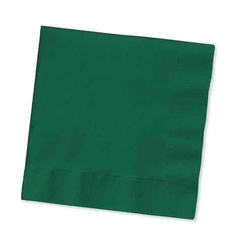 2-ply Paper Square Luncheon Napkins Dark Green (Hunter/Forest) Colors Disposable Dinner Bar Party 1 Package (50 Napkins) Tkcompany from Unknown