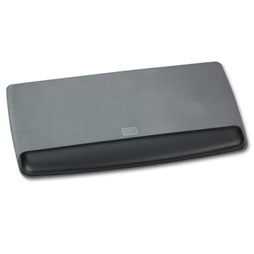 Antimicrobial Gel Keyboard Wrist Rest Platform, Black/Gray/Silver, Sold as 1 Each by 3M