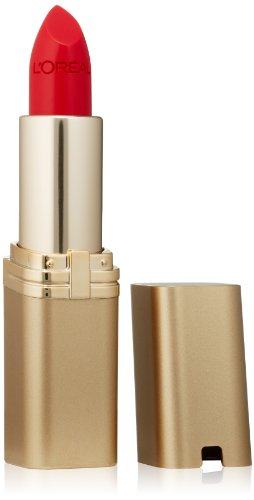 L'Oréal Paris Makeup Colour Riche Original Creamy, Hydrating Satin Lipstick, 350 British Red, 0.13 oz. -