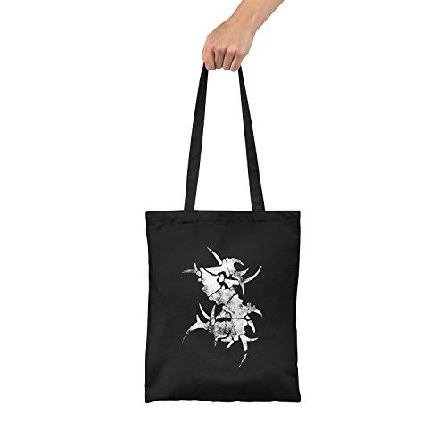 "Bolsa de tela ""Sepultura S Logo"" - tote bag shopping bag 100% algodón LaMAGLIERIA, Negro"