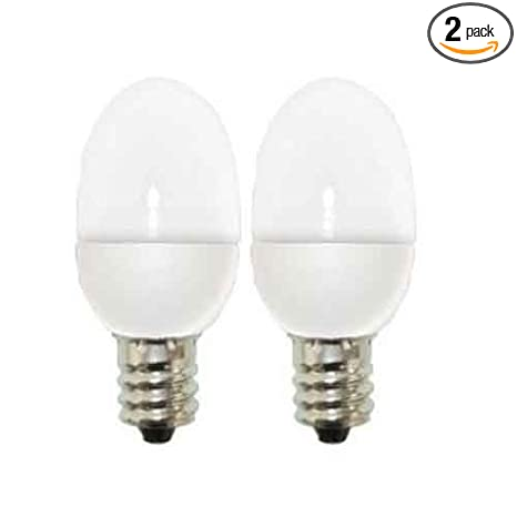 GE Lighting 13887 C7 LED Night Light Bulb with Candelabra Base, 0.5-Watt, Clear, 2-Pack - - Amazon.com