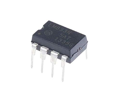 (ON SEMICONDUCTOR LM833NG IC, AUDIO OP-AMP, 15MHZ, DIP-8 (Pack of 10))