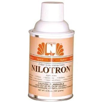 Nilodor nilotron 7 oz con aerosol dispensador Recambio latas – canela y especias (12 latas