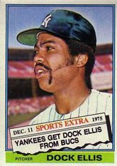 Amazoncom 1976 Topps Traded Baseball Card35 528t Dock Ellis Of