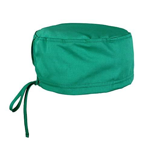 Surgical Scrub Cap Sweatband Medical Nurse Doctor Bouffant Hat Elastic Headwear Turban Adjustable Head Cover for Women Men