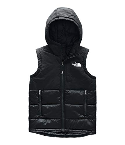 The North Face Youth Balanced Rock Insulated Hooded Vest, TNF Black, Medium