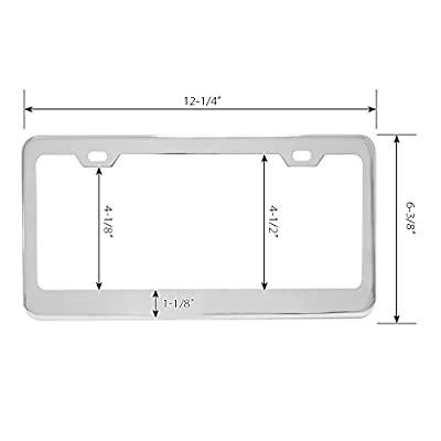 GG Grand General 60454 Superior License Plate Frame (Grade #304 Stainless Steel 2 Holes): Automotive