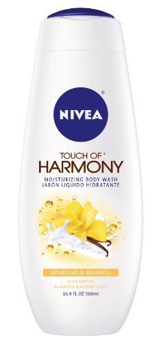 Nivea Touch Of Harmony Cream Oil Body Wash, Shea Butter & Parfum de fleur de vanille, bouteilles 16,9 onces (pack de 3)