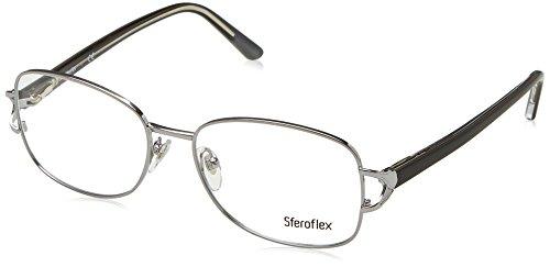 glass Frames 495-52 - Shiny Azure-silver Frame, Demo Lens ()