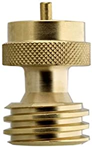 BISupply Propane Adapter 1lb to 20lb - Solid Brass Steak Saver Refill Adapter Fitting for Disposal Throwaway C