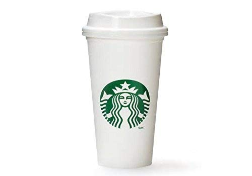 Starbucks White Reusable Travel Mug Cup 16oz 473ml