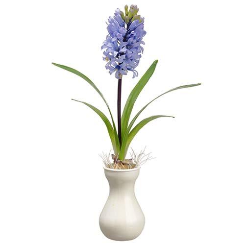 "17"" Silk Hyacinth Flower Arrangement w/Vase -Lavender (Pack of 6)"