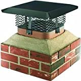 Shelter SCADJ-S Adjustable Clamp On Black Galvanized Steel Single Flue Chimney Cap
