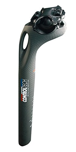 Control Tech TNA Mountain Bike 0mm Offset Bike Seatpost, 27.2 x 350mm, Anodized Black by Control Tech