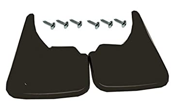 Easy Fit Rubber Mud Flaps//Guards 2 Universal Fit Black Front or Rear Unishield Mudflaps Complete With Mounting Screws