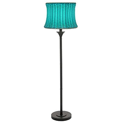 "River of Goods Outdoor Basketweave 59.5"" H Floor Lamp"