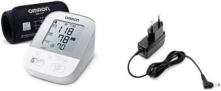Omron Tensiómetro X4 Smart, Monitor para la presión arterial, aprobado por la protección de consumidores + Adaptador de corriente AC para tensiómetro M2, M3, M6, M7, inhalador C803