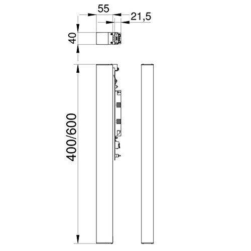 HSN 9005031010 Serie Leuchten 600 mm AVENARIUS Spiegelaufsteckleuchte eckig LED 13 Watt