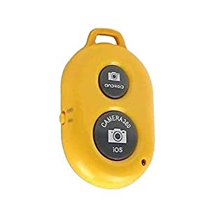 Korowa Bluetooth Wireless Remote Shutter Camera Phone Monopod Selfie Stick Shutter for iOS Android Phone Yellow