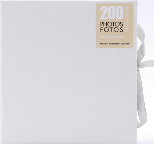 (Pinnacle Frames and Accents Wedding Shimmer 160 Pocket Photo Album with Tie Closure)