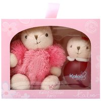 Kaloo Liliblue 100ml Maxi Fluffy Set with Pink and Rabbit