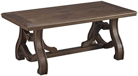 Signature Design by Ashley – Tanobay Traditional Rectangular Coffee Table, Gray