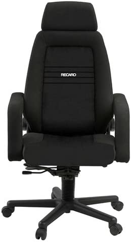 Amazon Com Recaro Ex Office Chair Cloth With Premium Wheels Black Absecon Kitchen Dining