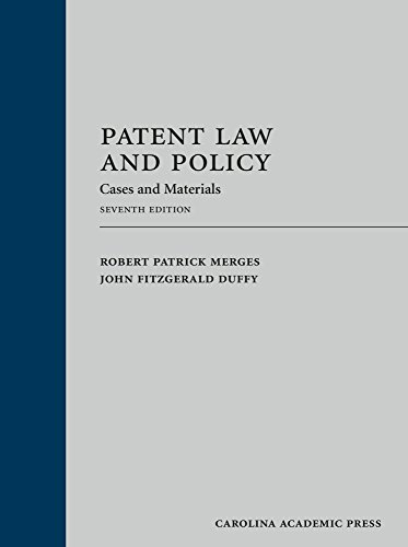 Patent Law and Policy: Cases and Materials PDF