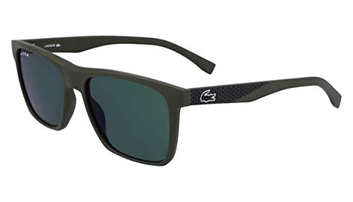(Lacoste Men's L900s Rectangular Sunglasses, Green Matte, 56.02 mm )