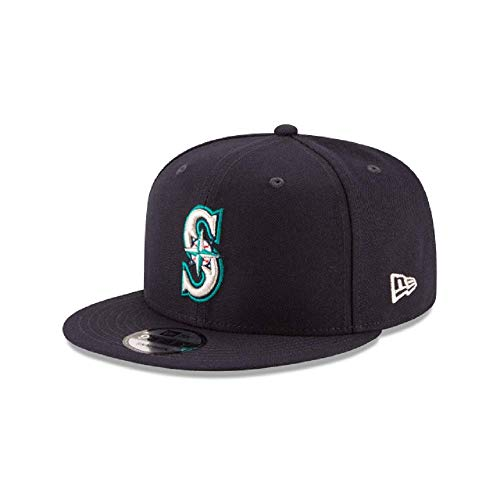 New Era Authentic Seattle Mariners Navy 9Fifty Snapback OSFM Hat Cap- Adjustable ()